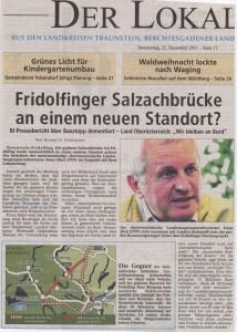 Neuer Standort für Fridolfinder Salzachbrücke?
